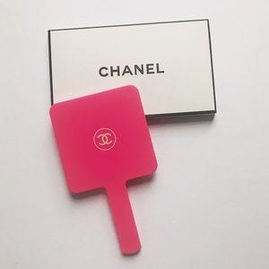 Chanel Hand Held Mirror pink acrylic